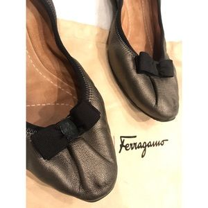 Salvatore Ferragamo My Joy Leather Flats